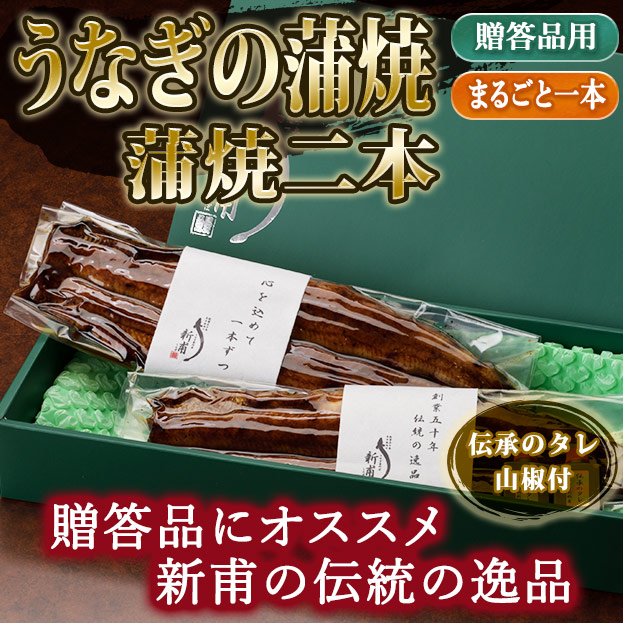 うなぎの蒲焼二本 伝承のタレ・山椒付 KL2