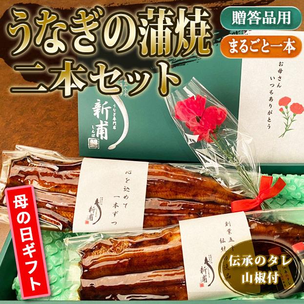 【母の日ギフト】うなぎの蒲焼二本セット 伝承のタレ・山椒付 MG-KL2